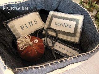 Primitive sewing set