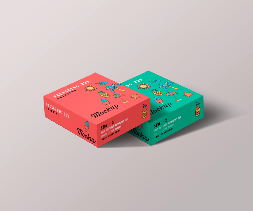 Square Packaging Box Mockups Graphicsfuel Box Mockup Box Packaging Packaging