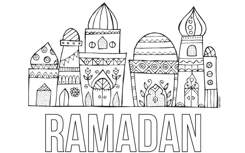 Masjid Ramadan Coloring 1 240 772 Pixel