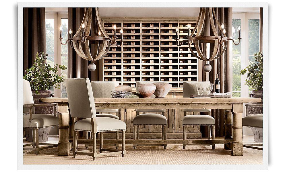 Dining Room Wine Storage Restoration Hardware Restoration