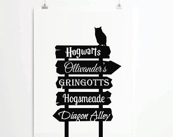 Harry Potter Printable Signs Harry Potter Places Poster Street
