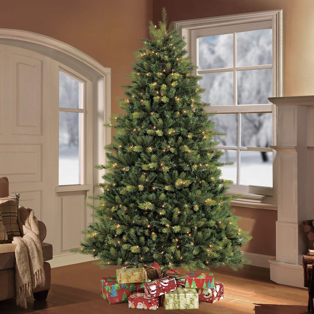 Puleo Tree Company 7 5 Foot Pre Lit Balsam Fir Artificial Christmas Tree With 800 Clear Ul Listed Lights Christmas Tree