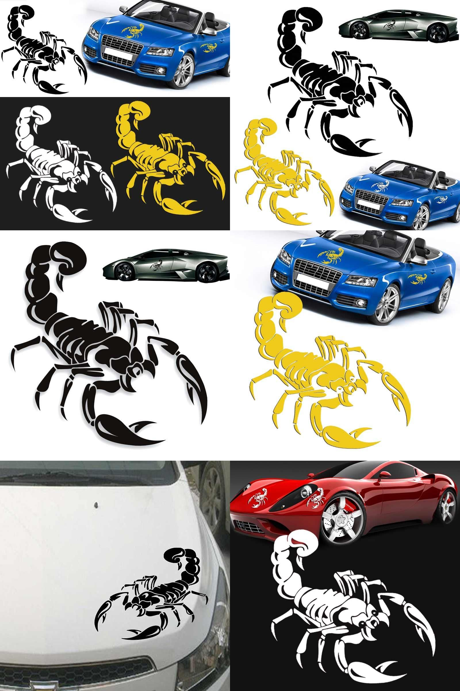 Visit To Buy Pc Car Styling Stickers D Cute Scorpion Motorcycle - Custom motorcycle stickers funny