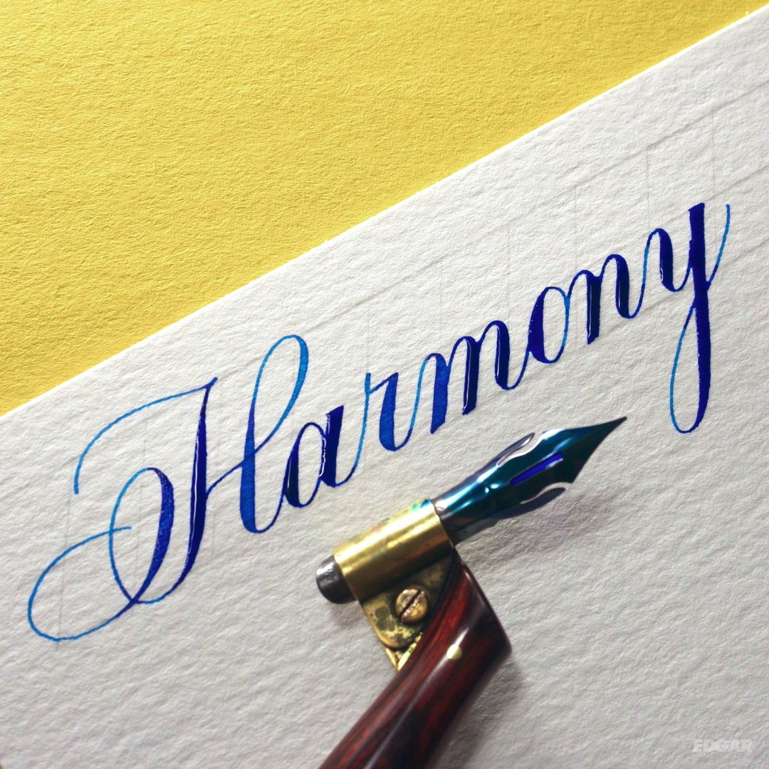 Harmony written in the Copperplate script #calligraphy