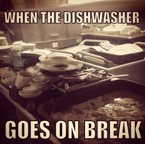 Chaos Descends In Record Time Every Time Restaurant Memes Culinary School Chef Life