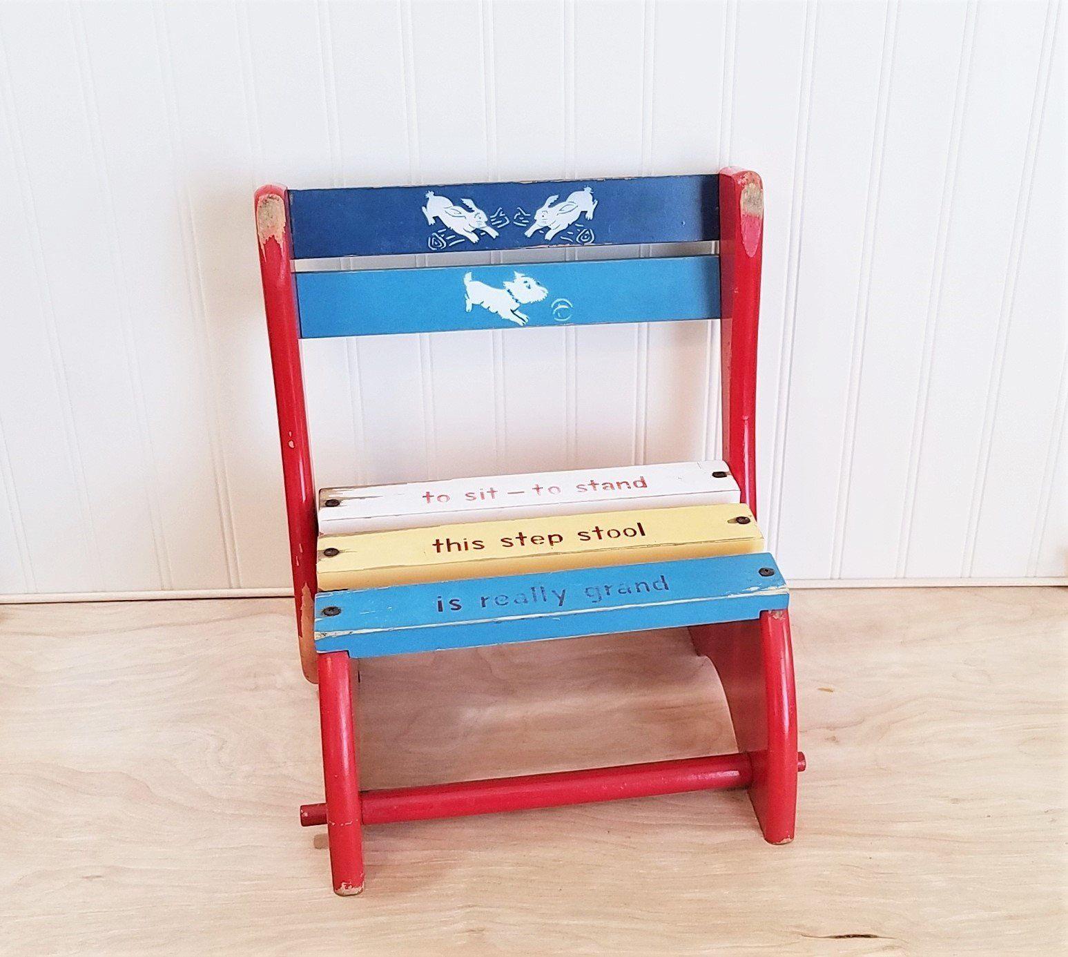 Super Vintage Childrens Step Stool Childs Stool Childrens Chair Unemploymentrelief Wooden Chair Designs For Living Room Unemploymentrelieforg