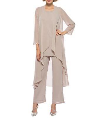 Détails sur La Mère De La Mariée Pantalon Costumes 3 Pièces Robes De Soirée Formelle
