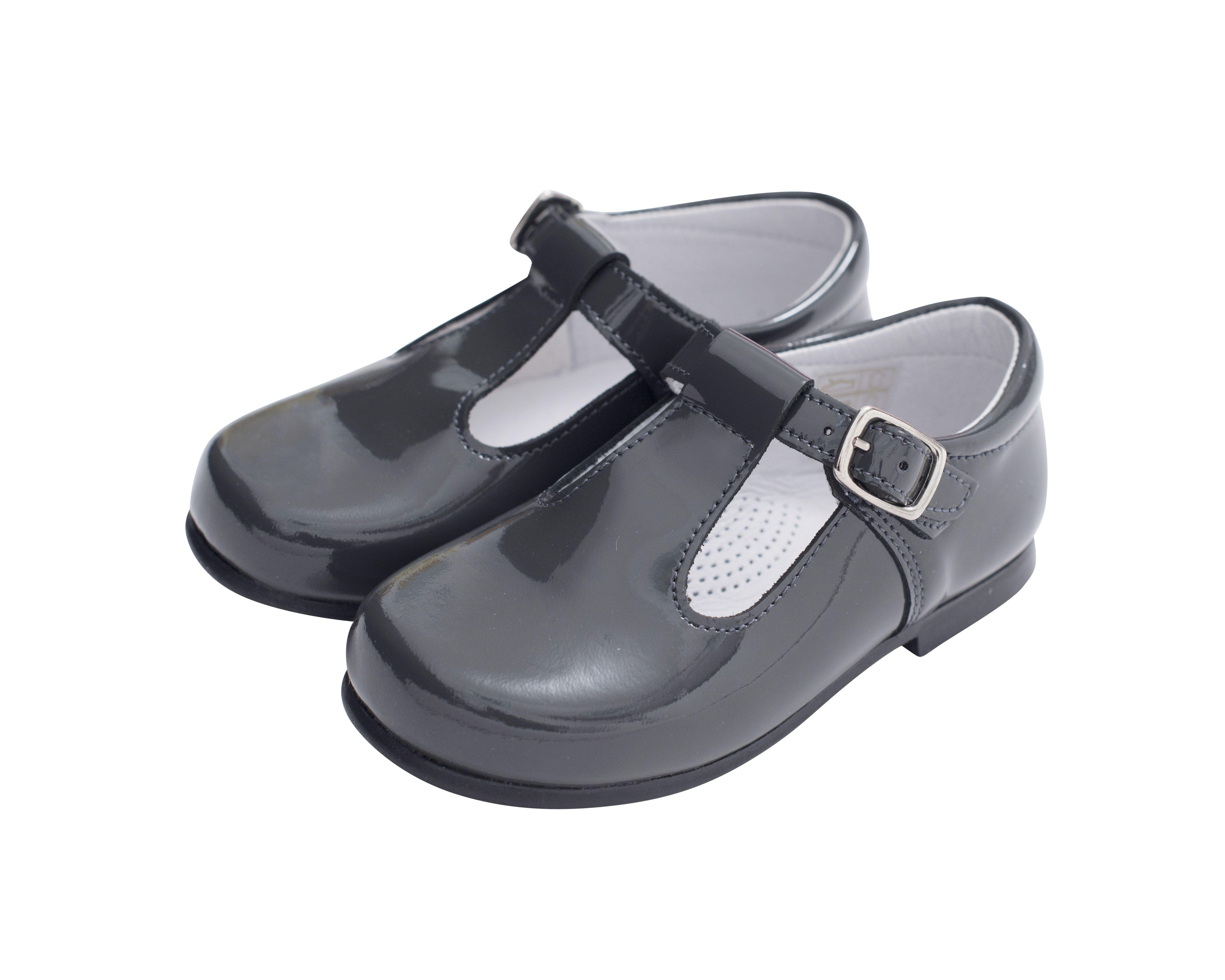 Girls Spanish Style Patent Bow T-Bar Shoes UK Infant 3-10