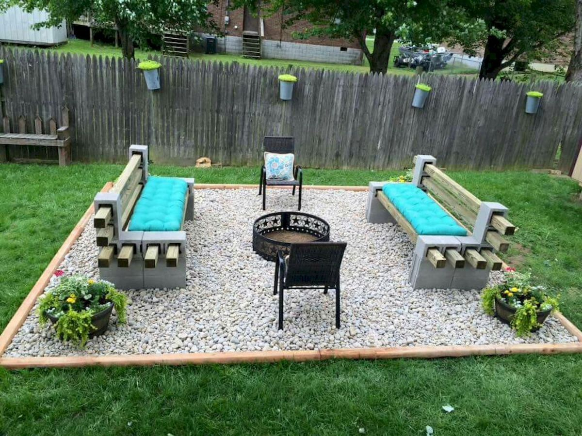 Creative diy cinder block furniture and decor ideas (13 ... on Cinder Block Fireplace Diy id=36599