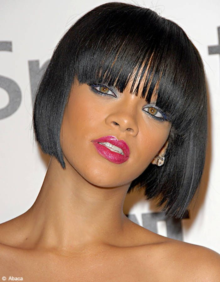 Rihanna Coupe Au Carre Les Plus Jolis Modeles A Adopter Elle Rihanna Cheveux Court Coupe Carre Cheveux