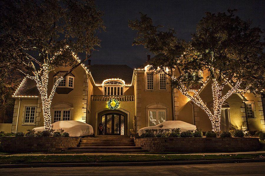 Outdoor Landscape Lighting Dallas Fort Worth Houston Christmas Landscape Holiday Lights House Outdoor Landscape Lighting