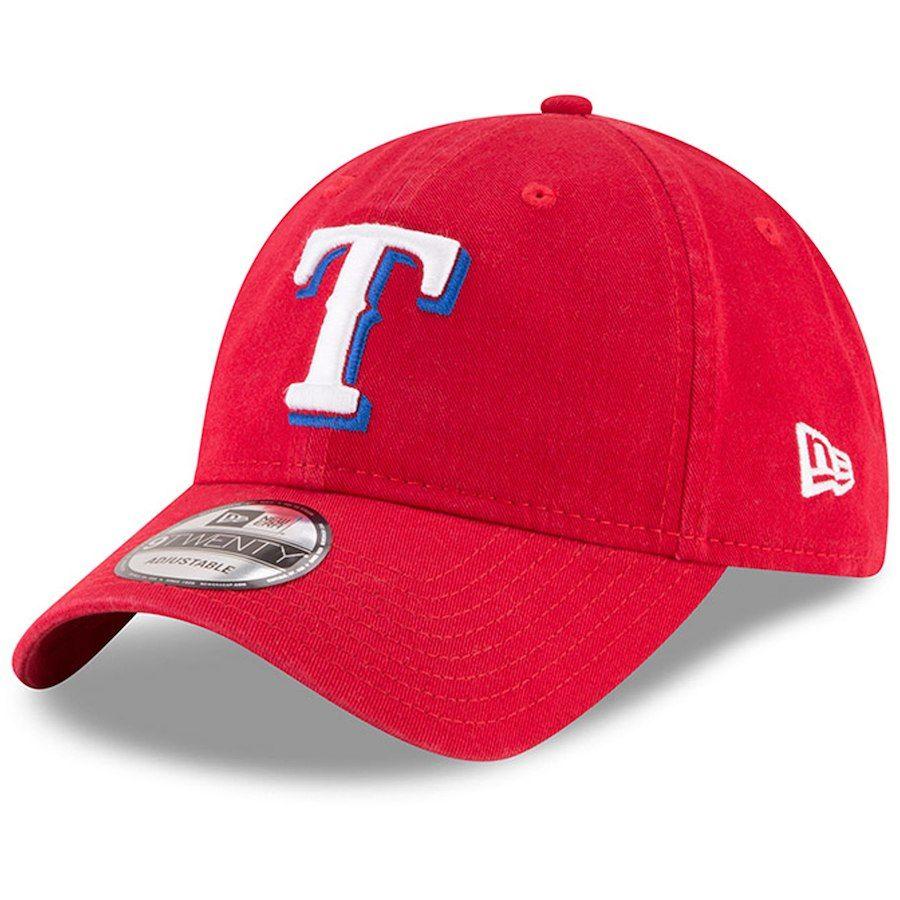 Ad Men S Texas Rangers New Era Red Alternate Replica Core Classic 9twenty Adjustable Hat Adjustable Hat Texas Rangers New Era