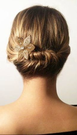 elegant updo short hair - renewed
