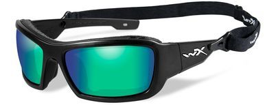 a7fda801cc Wiley X Knife Safety Sunglasses with Matte Black Frame and Emerald Mirror  Polarized Lens