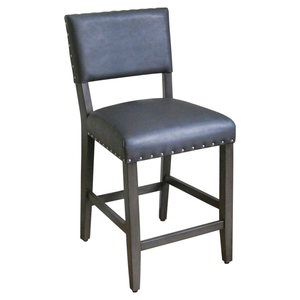 Open Back 24 Counter Stool Charcoal Grey Threshold 24