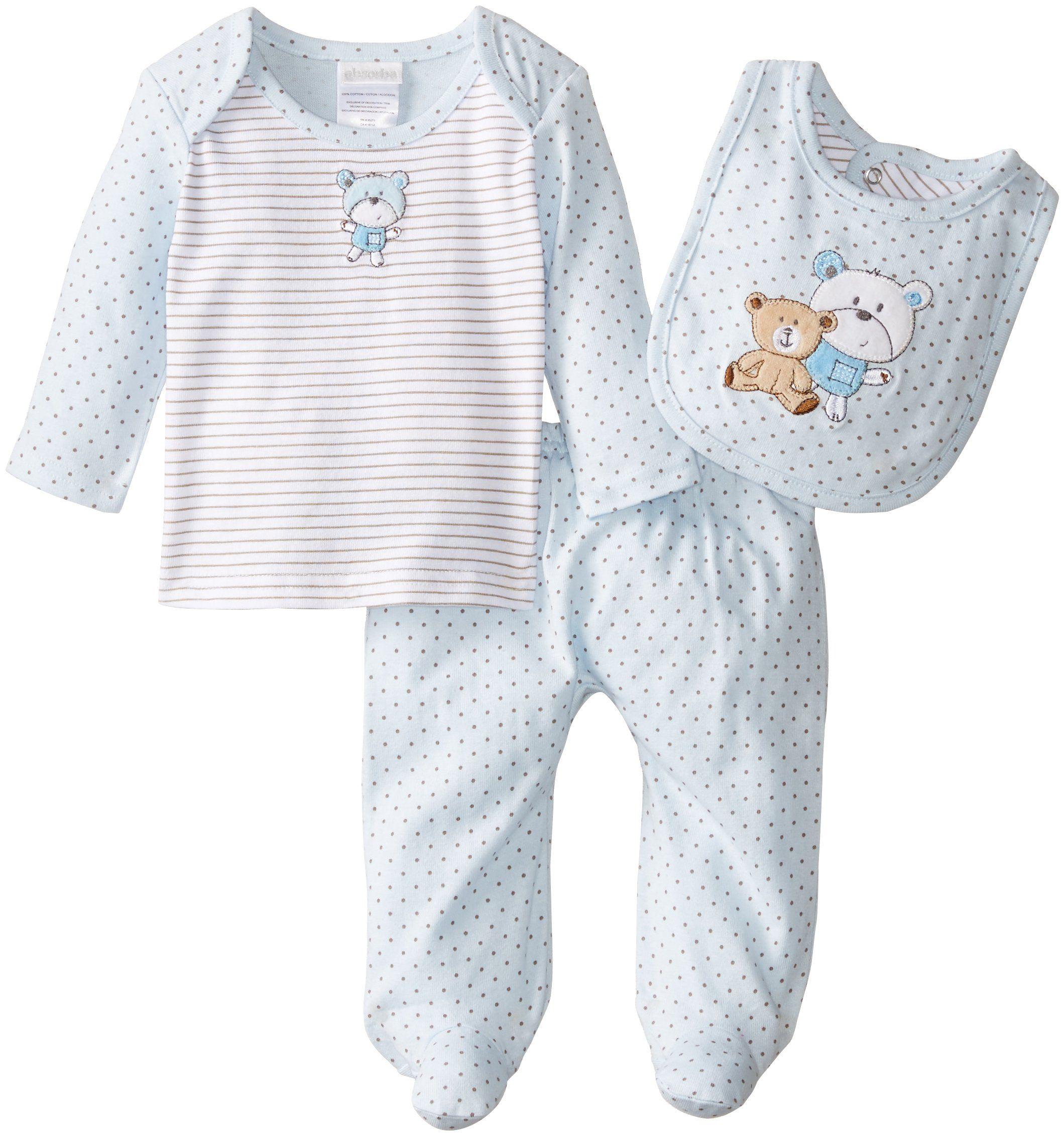 133478c3ab82 Amazon.com  ABSORBA Baby-Boys Newborn Brother Bear 3 Piece Footed ...