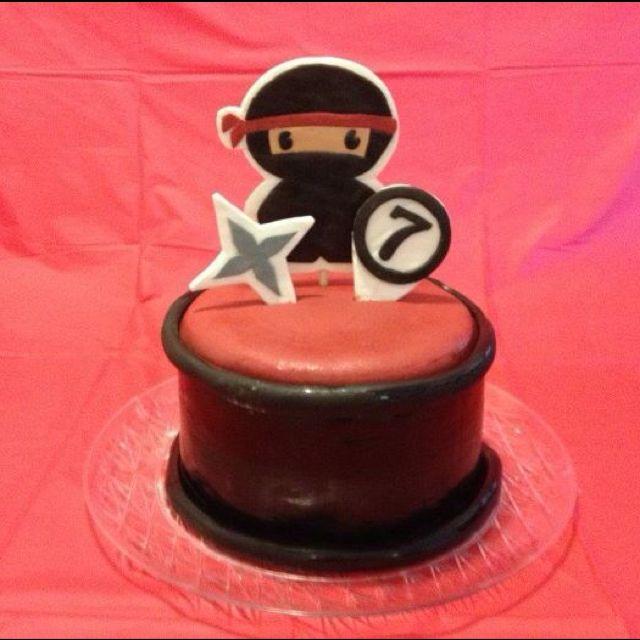 Ninja cake for Bonnies 7th My Cakes Pinterest Ninja cake and Cake