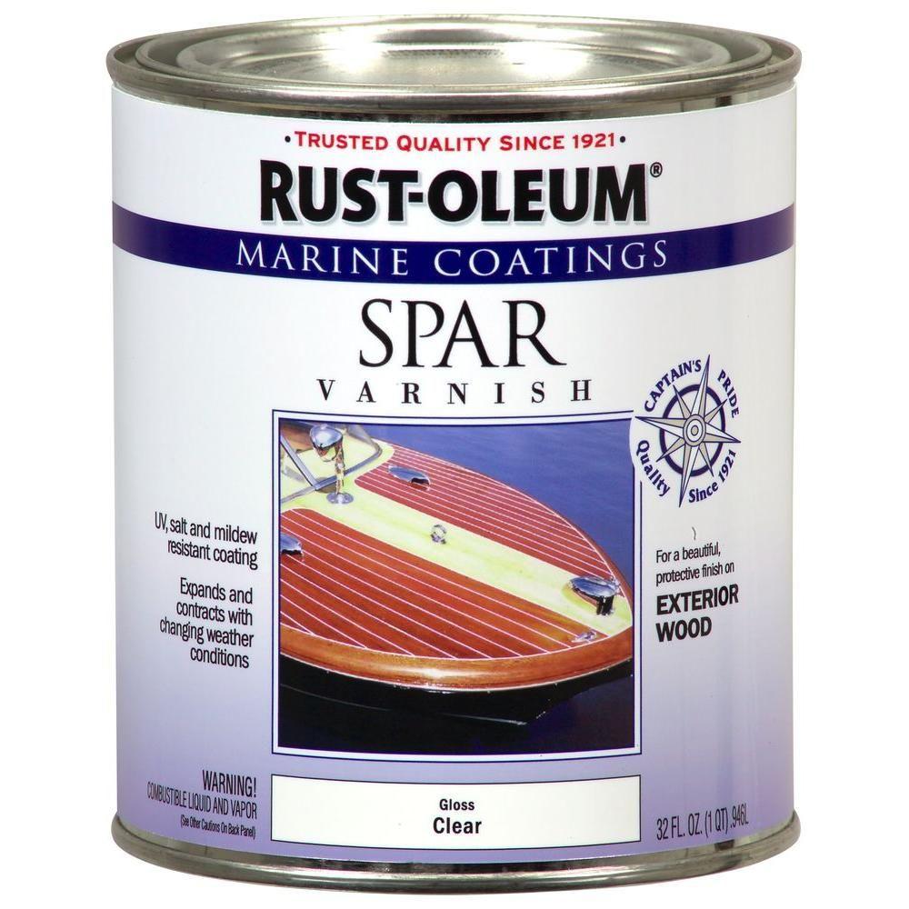 White Wash Gel Stain: Rust-Oleum Marine 1 Qt. Clear Gloss Spar Varnish Coatings