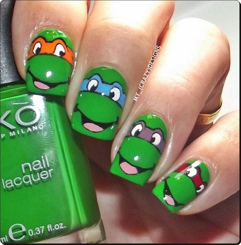 Ninja Turtles nails | Ninja turtles | Pinterest | Ninja turtle nails ...