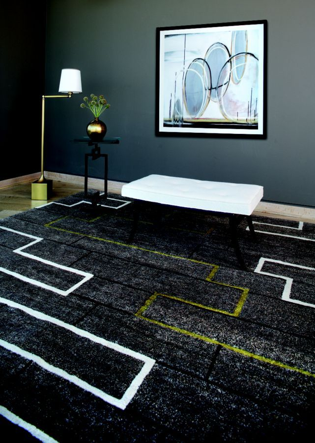 A Rug From Floor Coverings By Cpa Makes Dramatic Statement In This E Luxeco