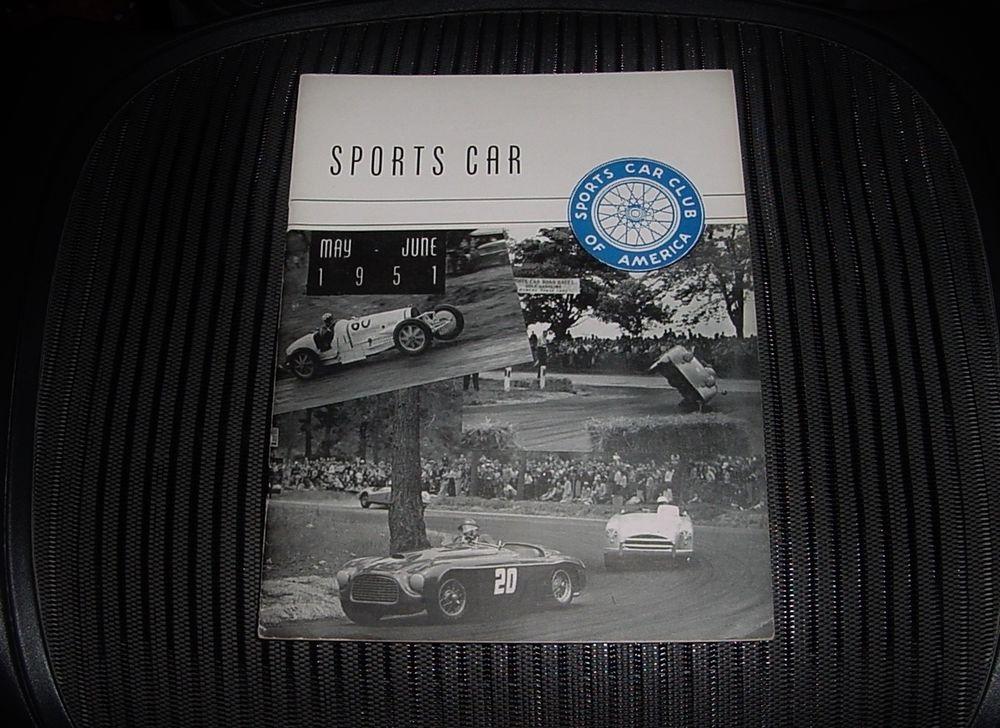 RARE MAY JUNE 1951 SPORTS CAR Magazine SCCA HARD to FIND Original ...