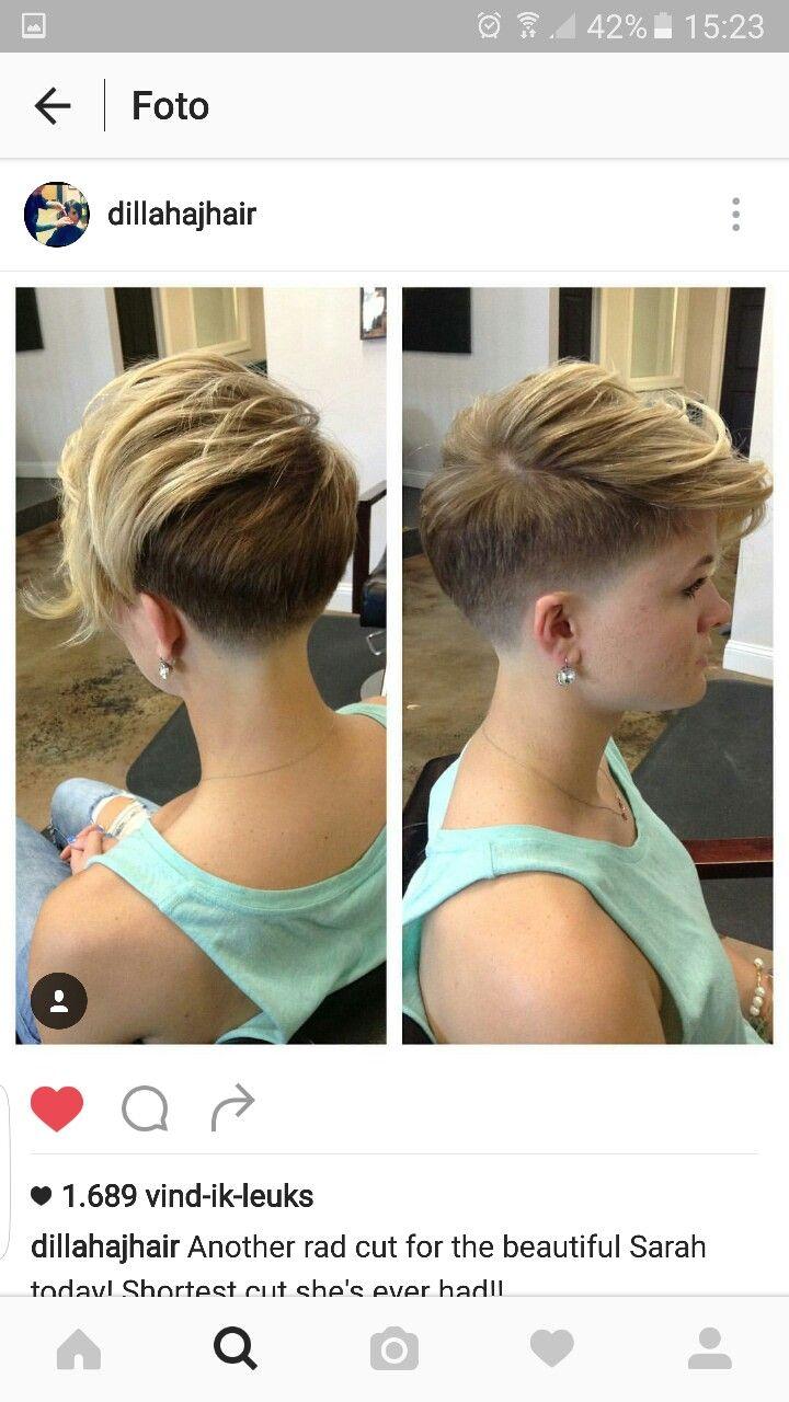 Short hair pixiecut undercut more hair pinterest undercut