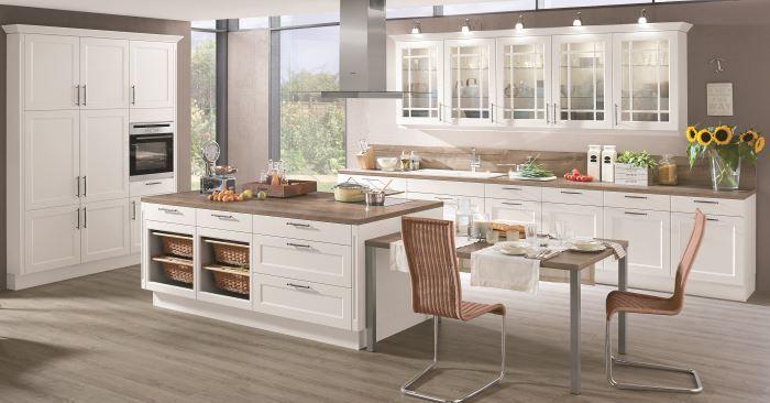 emejing weiße küche mit holz gallery - home design ideas