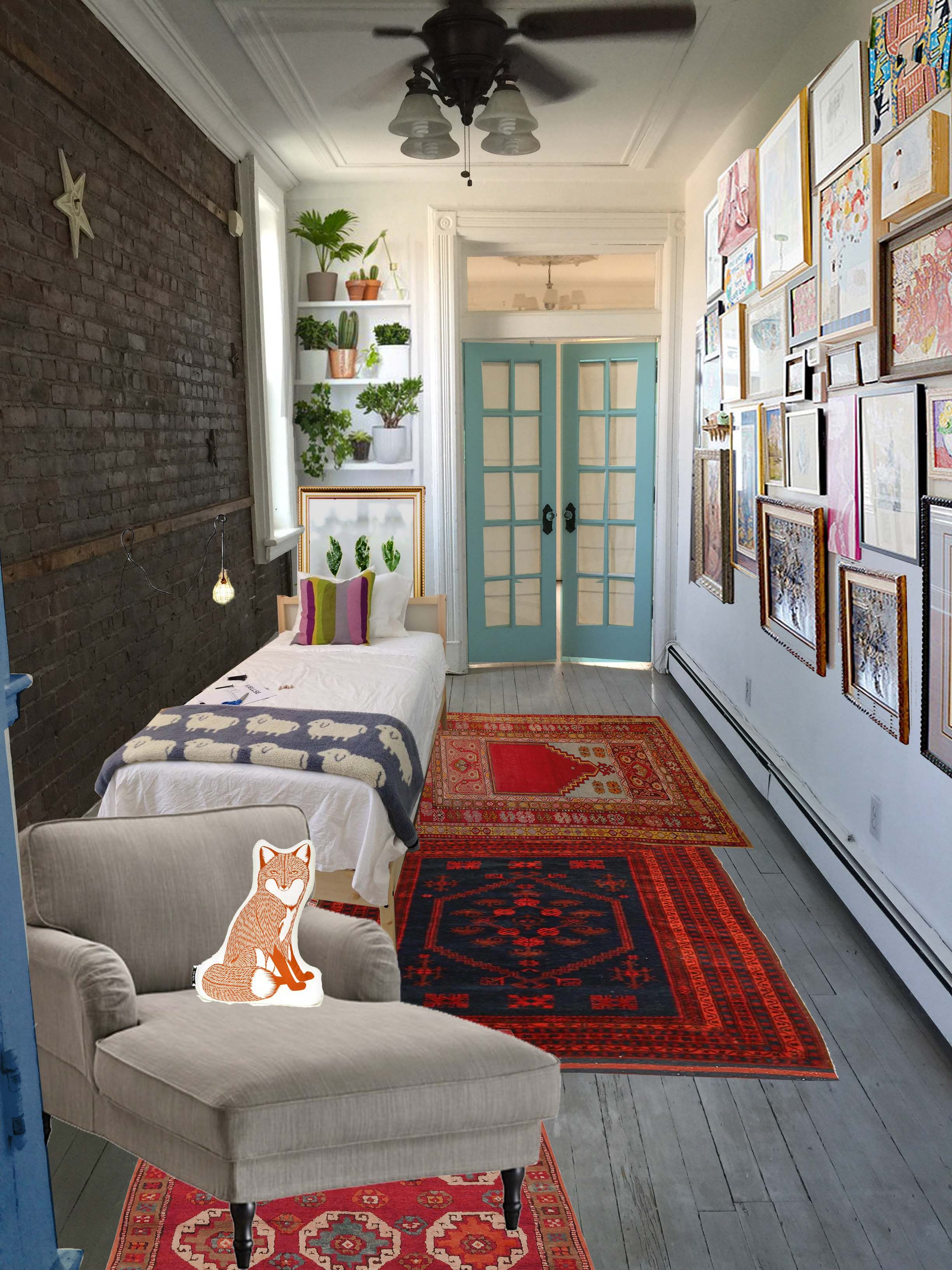 Ideas For My Bedroom Narrow Small Railroad Apartment Small