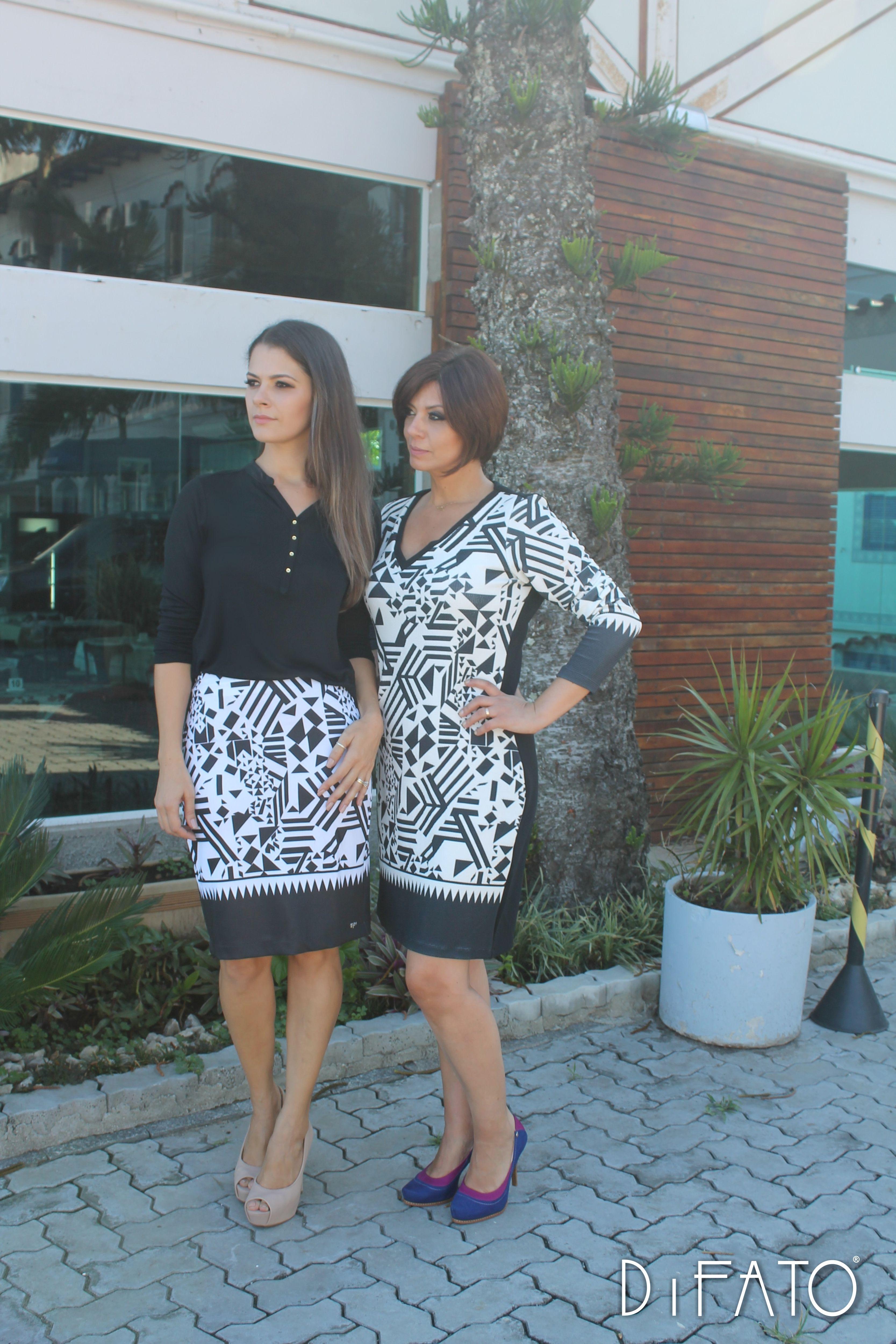 #moda #desfile #lançamento #mulherclássica #saia #vestido #preto #estampaexclusiva #photo #style #outonoinverno2016 #DiFATO #amodaéservocê