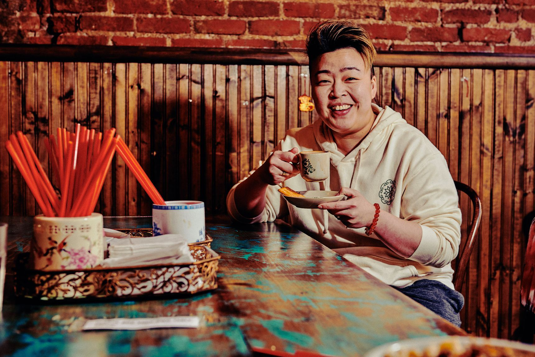 Chef Kyo Pang White Bowls Light Snacks Lower East Side