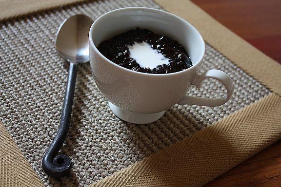 Thai black rice dessert   Coconut cream, Black rice ...