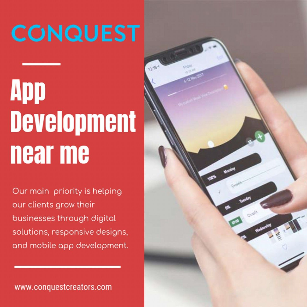 App developer near me for the development of mobile