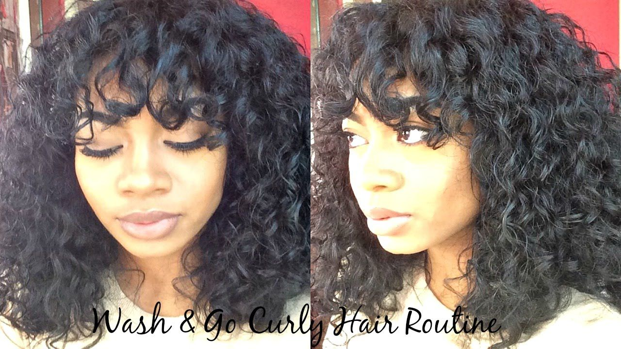 wash & go curly hair routine 3a 3b hair (great for dry