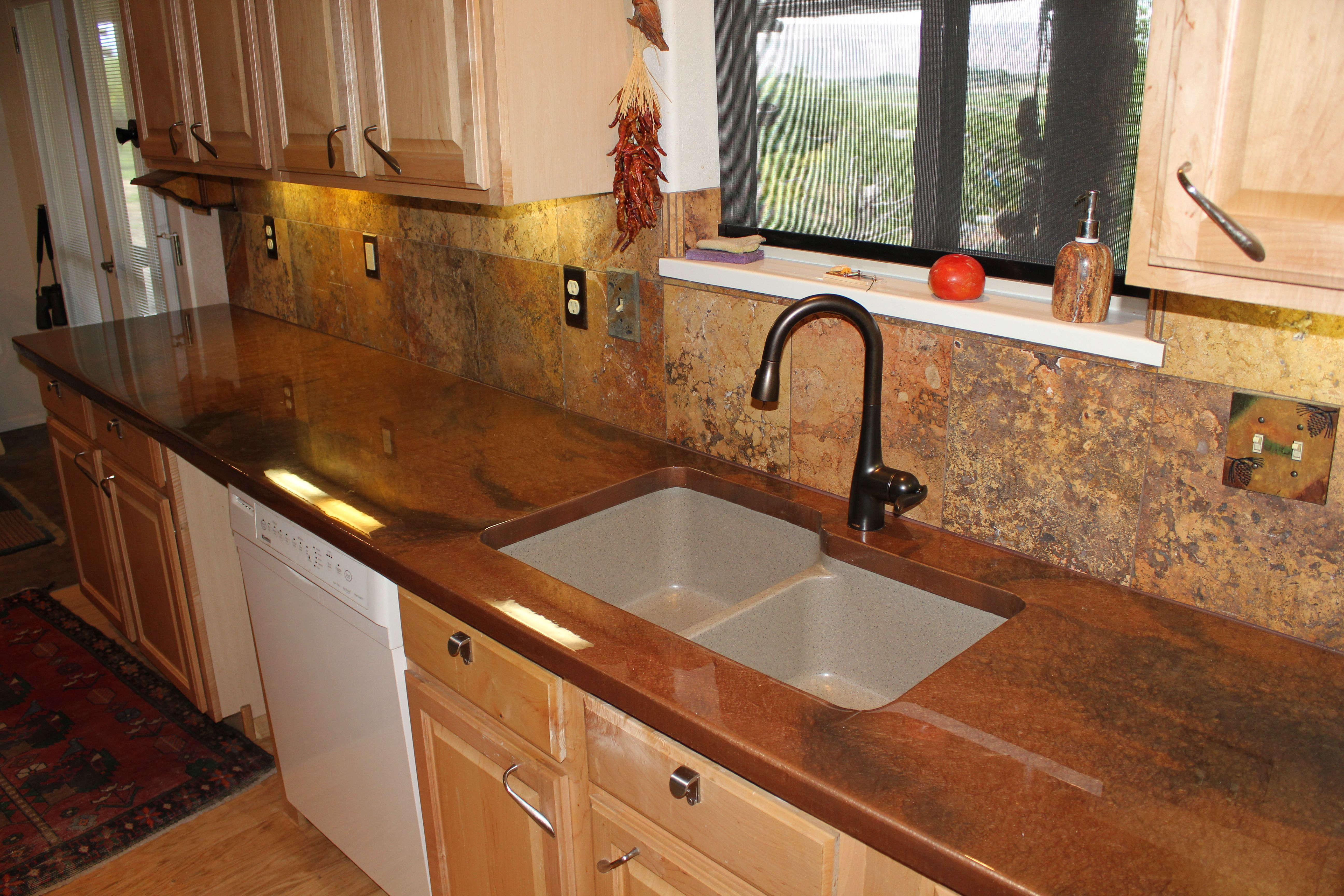 Copper With Metallic Brown Accents Countertopepoxy Com Epoxy Countertop Diy Countertops Countertops