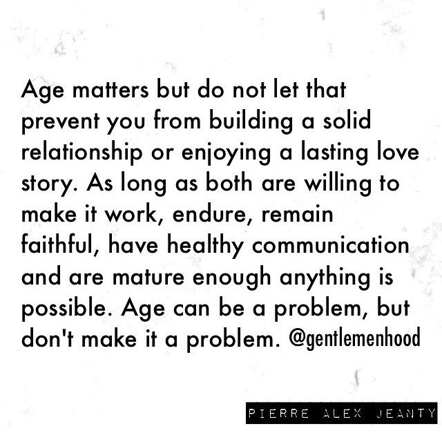 why age matters in a relationship