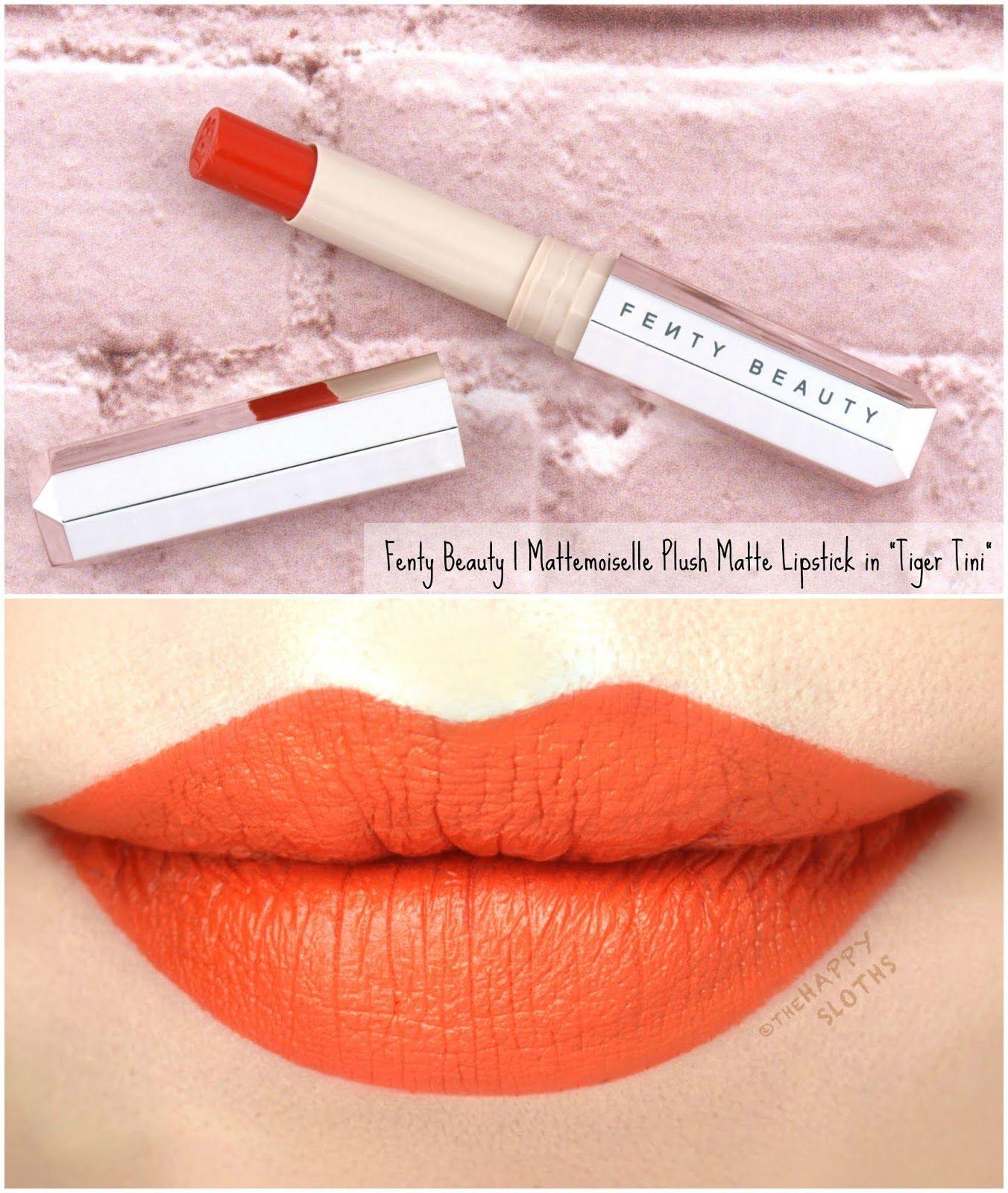 Fenty Beauty By Rihanna New Shades Mattemoiselle Plush Matte Lipstick Review And Swatches Fenty Beauty Lipstick Fenty Makeup