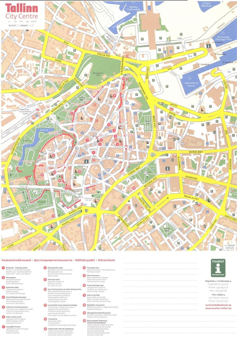 Tallinn Estonia Cruise Port Map Printable Tallinn Estland