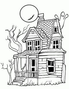 Haunted House Template Google Search Dibujos De Halloween Dibujos Para Imprimir Libro De Colores