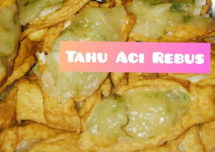 Resep Tahu Aci Rebus Oleh Arshiya Kitchen Resep Resep Tahu Resep Masakan Resep Makanan
