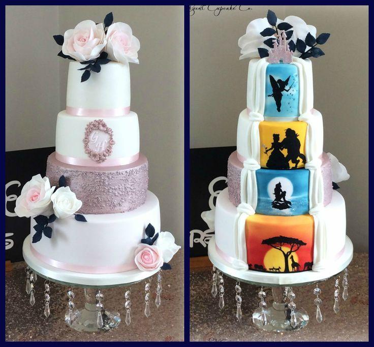 Hidden Disney themed wedding cake             disney hidden themed wedding  Genel
