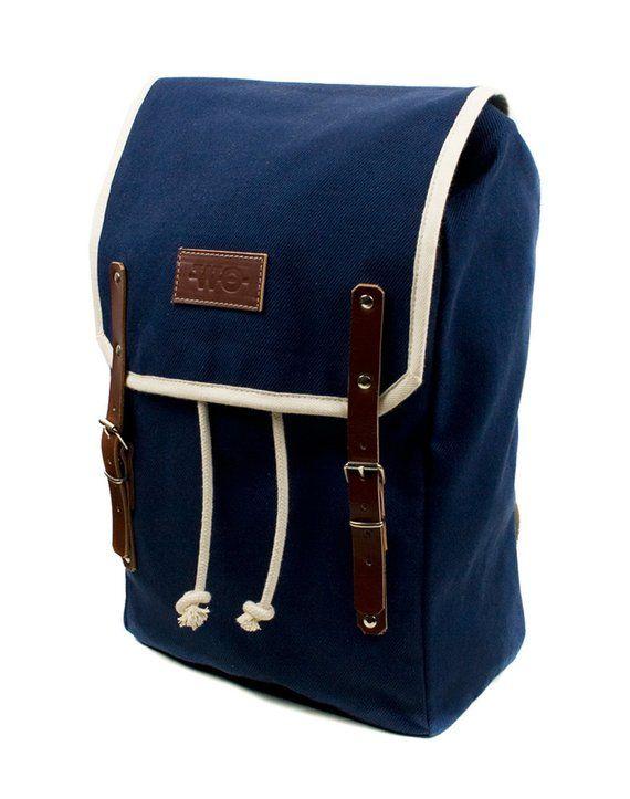 Nautica Mens Canvas Messenger Bag Blue,