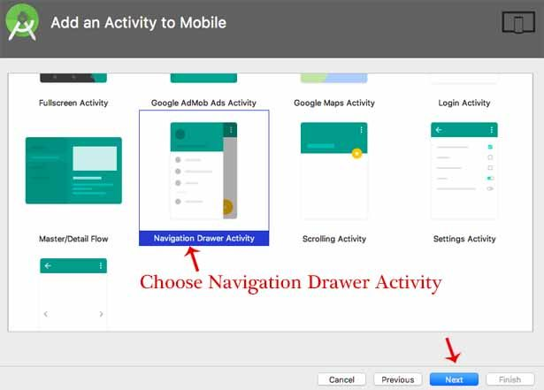Navigation Drawer Android Animations, Material Design | App