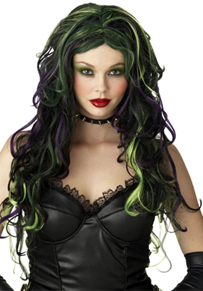 Multicoloured Witch Costume Wig