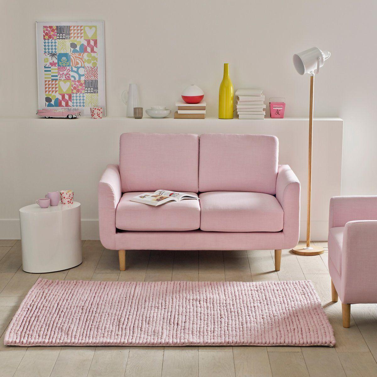Tapete em pura lã, efeito malha entrançada, 3 tamanhos, diano La Redoute Interieurs | La Redoute