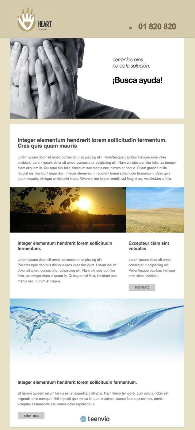 Fundación, plantilla HTML gratis para Newsletter en email ...