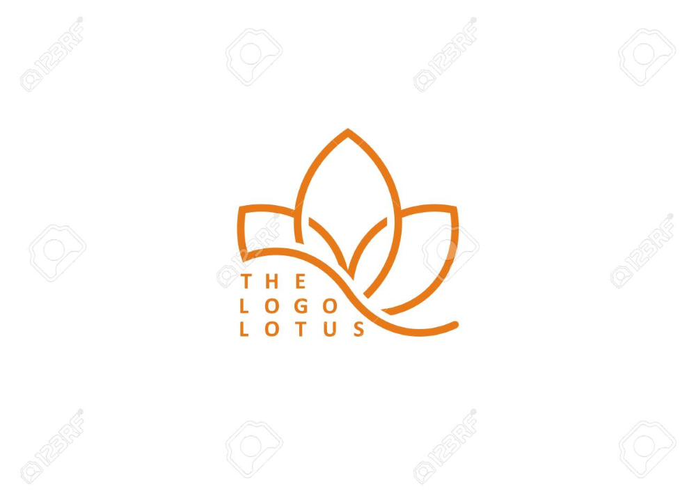 Lotus Flower Vector Logo Modern Vector Logo Modern Logo Lotus Logo