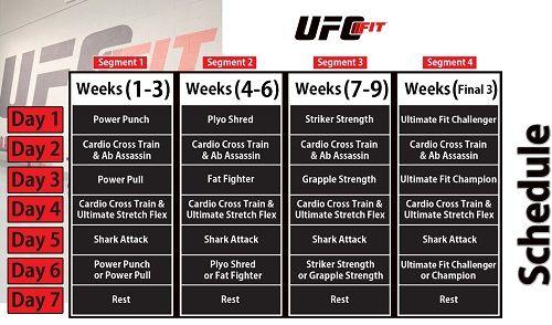 UFC FIT Training Schedule | Motivational men | Ufc workout