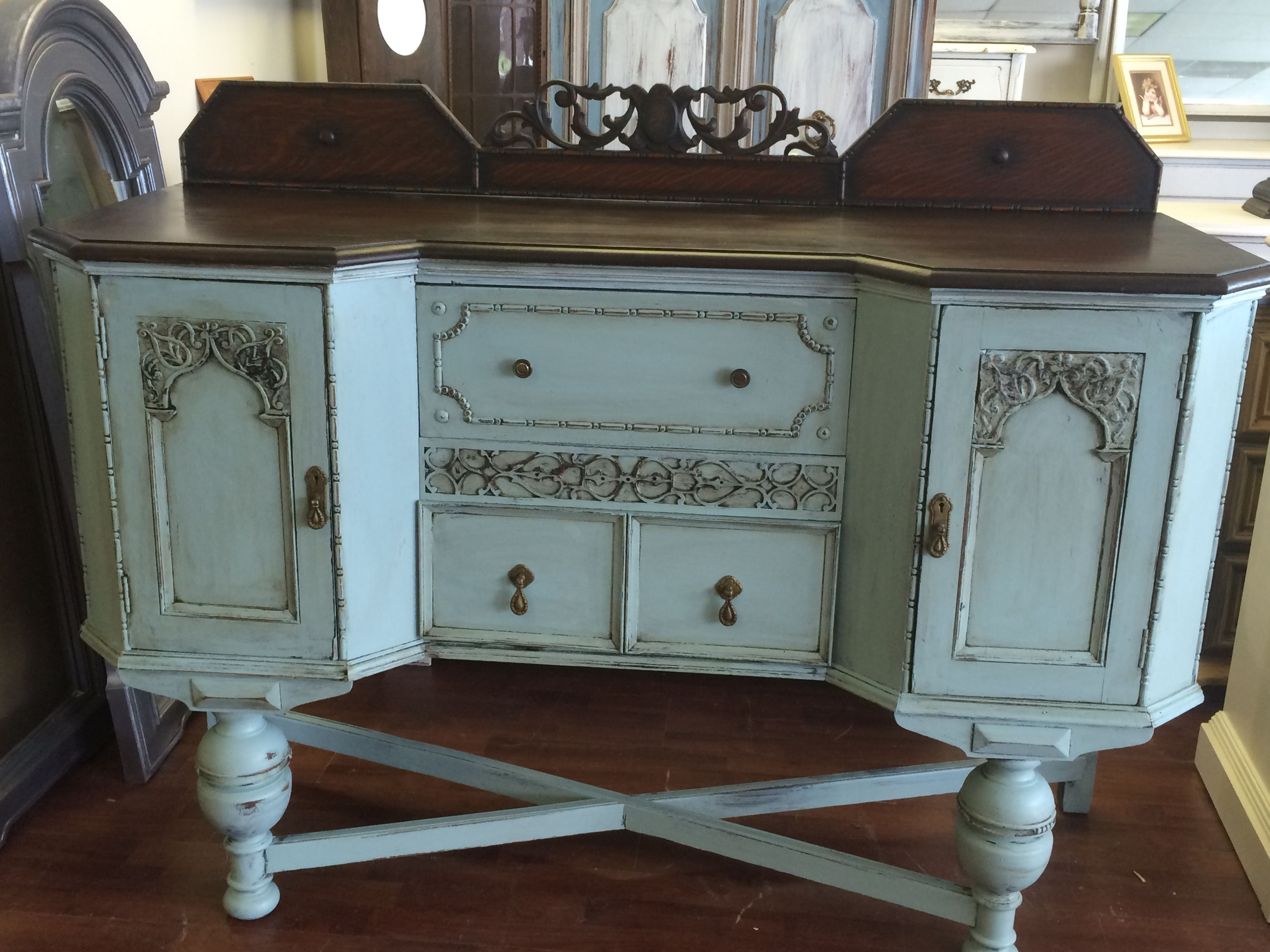 This Could Very Well Be My Most Favorite Piece Yet It Is An Early 1900 S Buffet That I Paint Shabby Chic Buffet French Country Furniture Shabby Chic Furniture