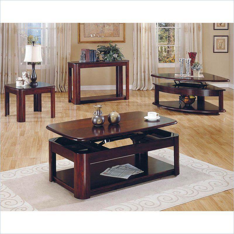 Best Steve Silver Company Lidya 3 Piece Lift Top Coffee Table 640 x 480