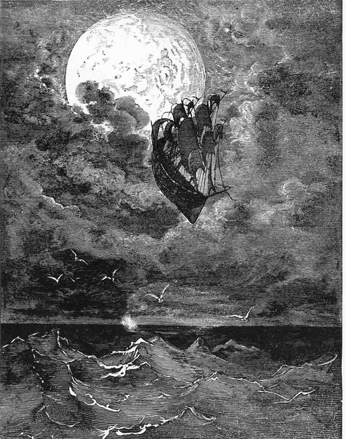 A Voyage to the Moon - Gustave Doré,1868